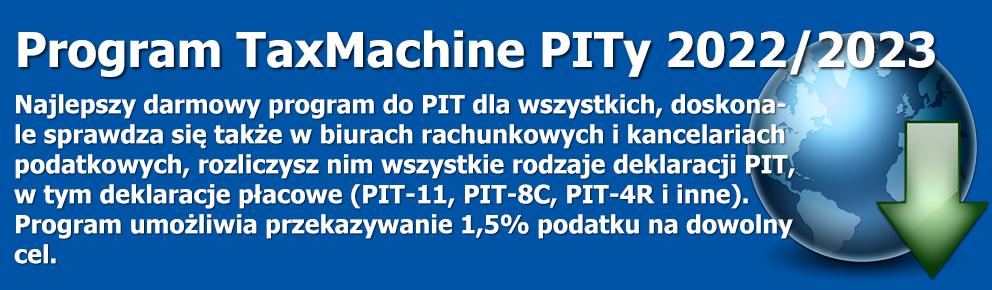Program PITy TaxMachine 2016/2017 - kliknij aby pobrać